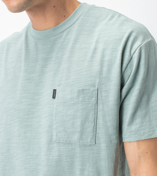 Slub Box Pocket Tee Mint