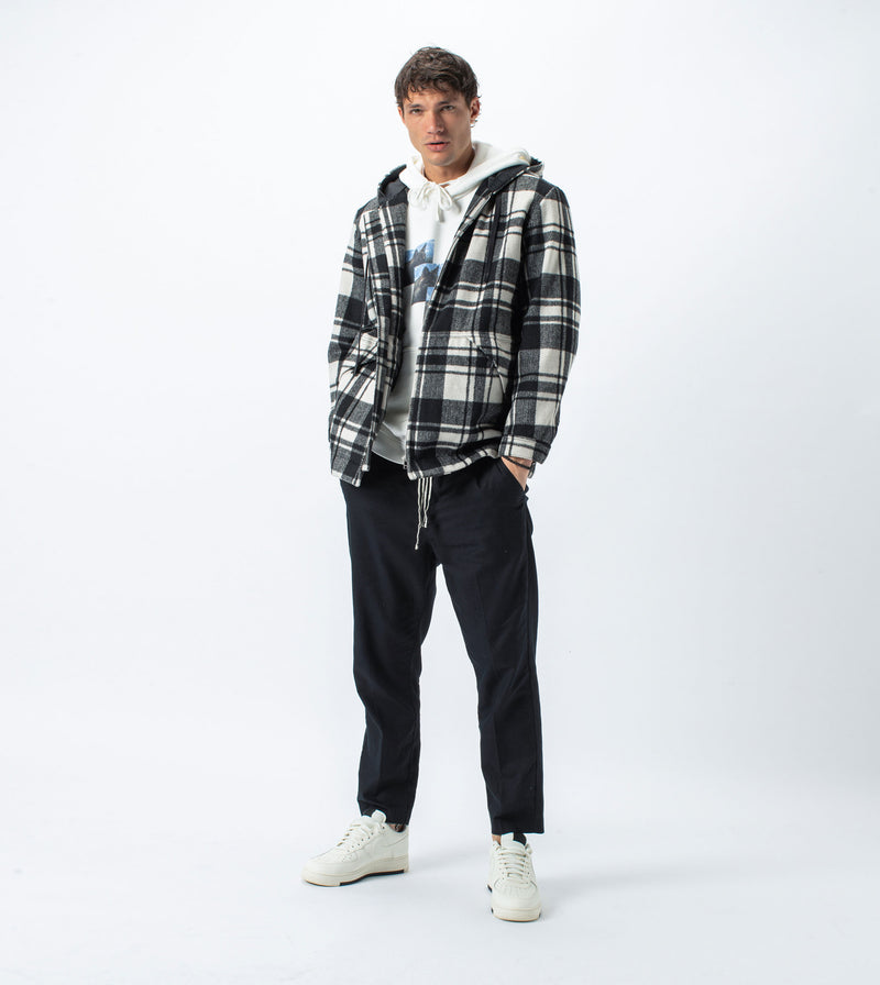 Case Plaid Anorak Black/White