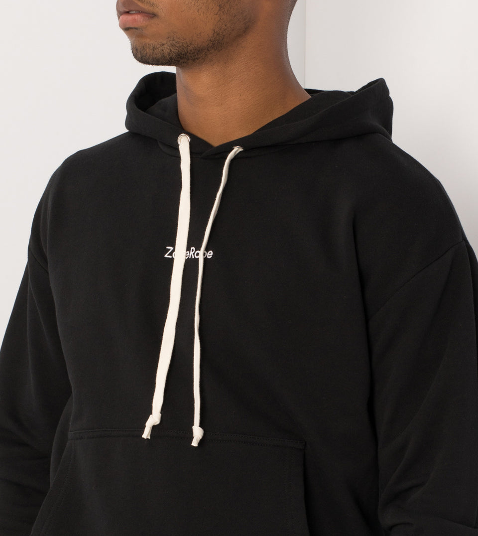 Case Rugger Hood Sweat Black - Sale