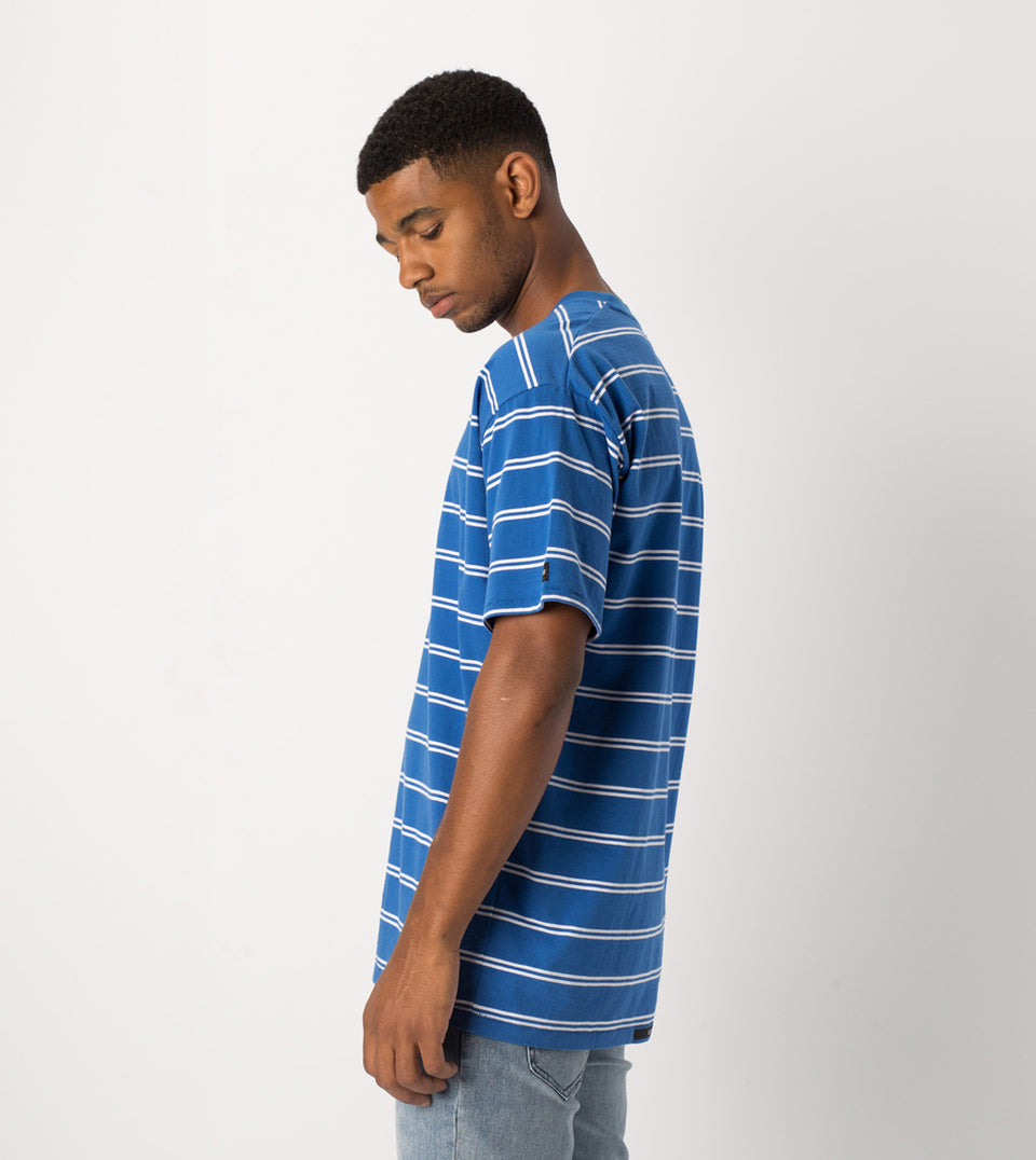 Channel Box Tee Cobalt/White