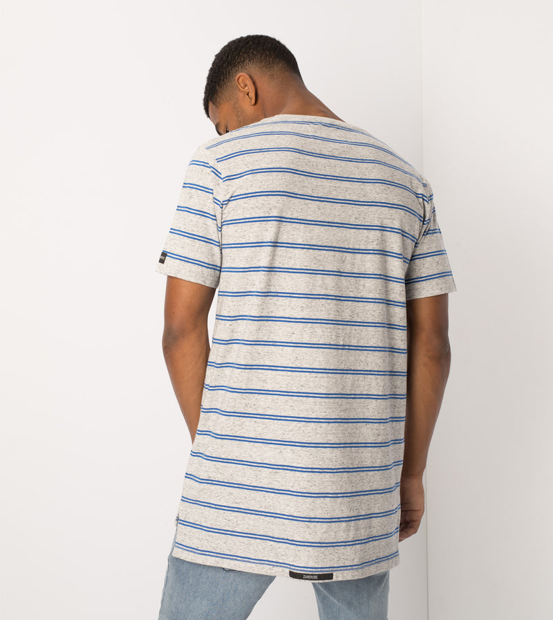 Channel Flintlock Tee Storm Marle/Cobalt