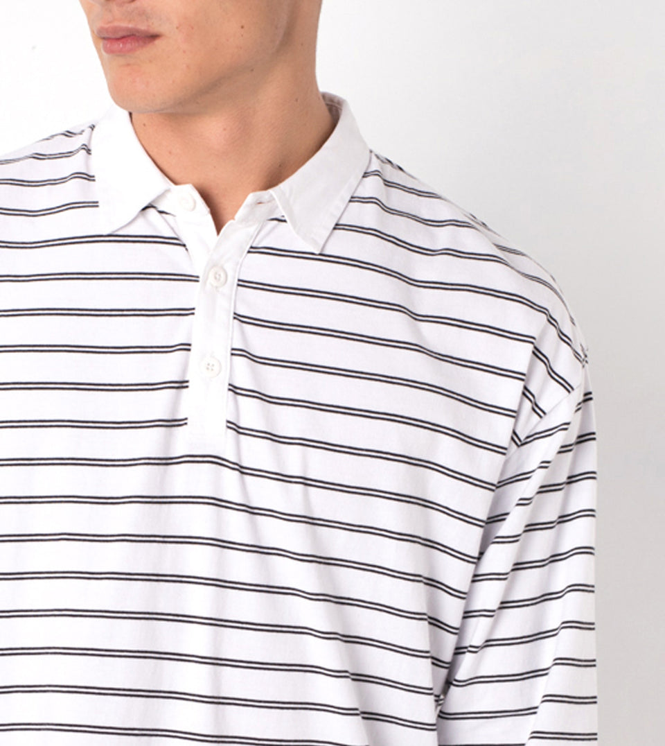 Channel Rugby LS Polo White/Black