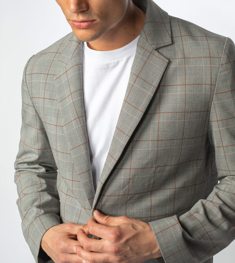Check Os Blazer Grey Check