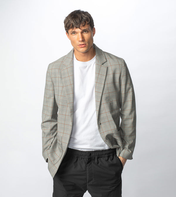 Check Os Blazer Grey Check - Sale