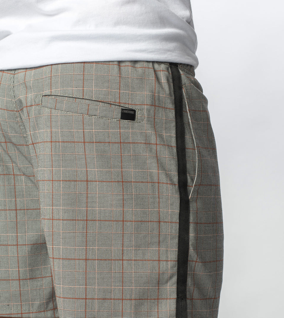 Check Sideline Zephyr Short Grey Check