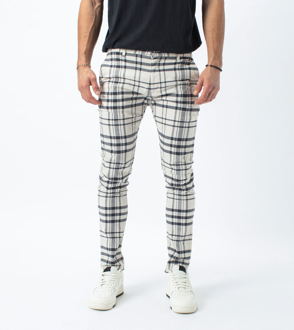 Check Snapshot Chino Milk/Vintage Black