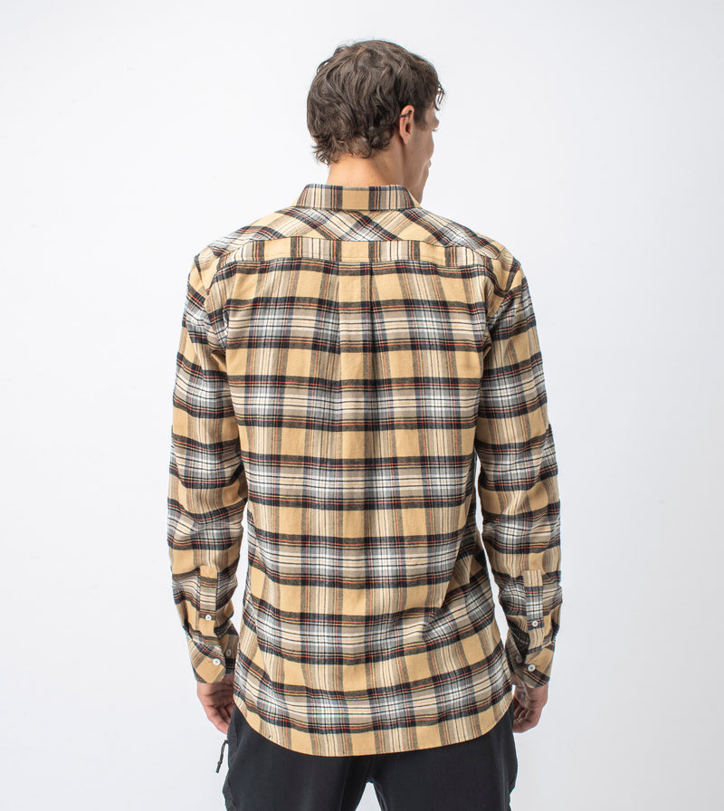 Checker Flannel LS Shirt Sun/Milk