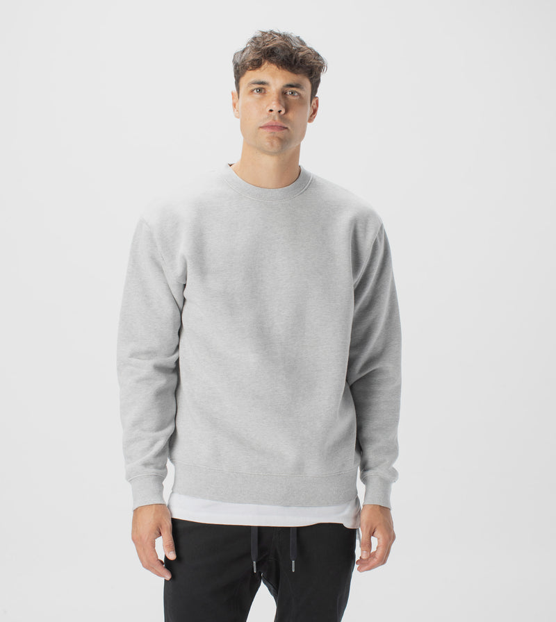 Lowgo Crew Sweat Silver Marle