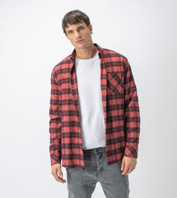 Dawn Flannel LS Shirt Ochre/Black