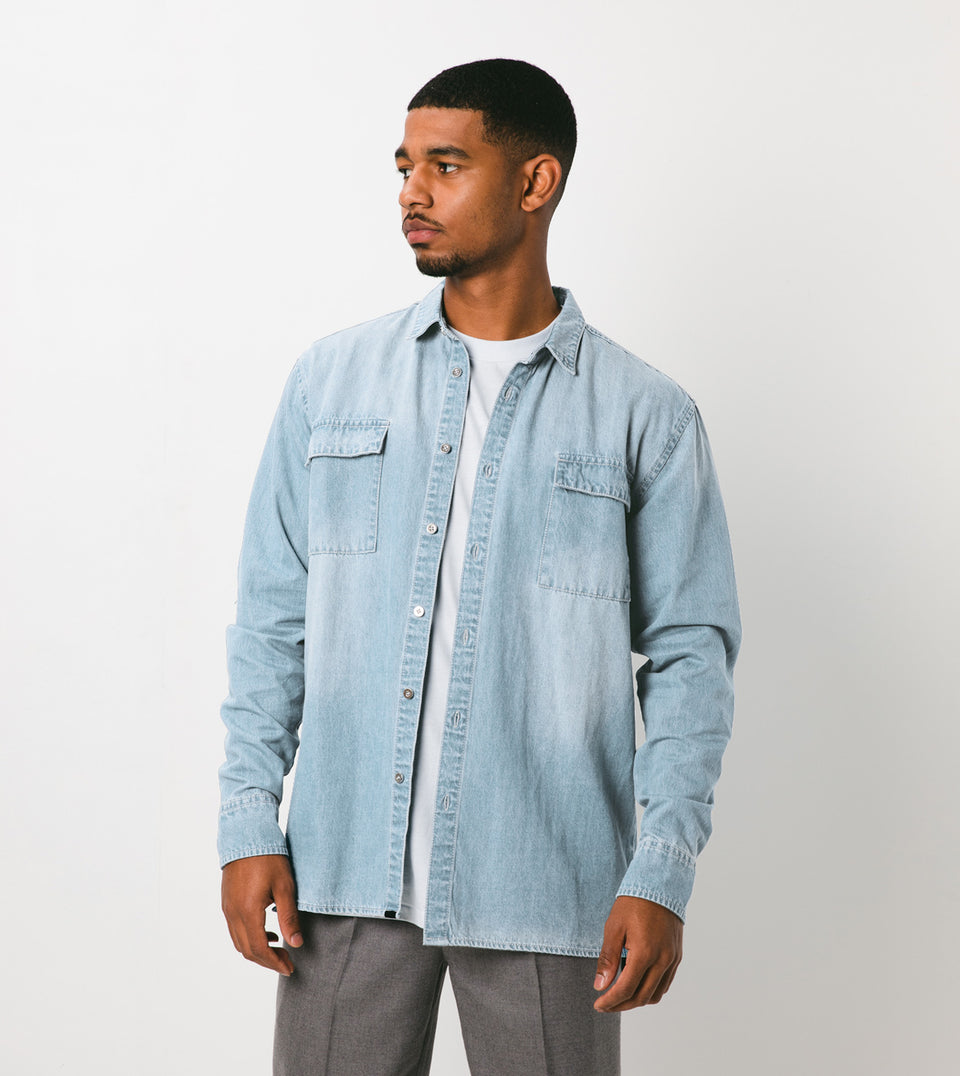 Denim LS Shirt Blaze Blue