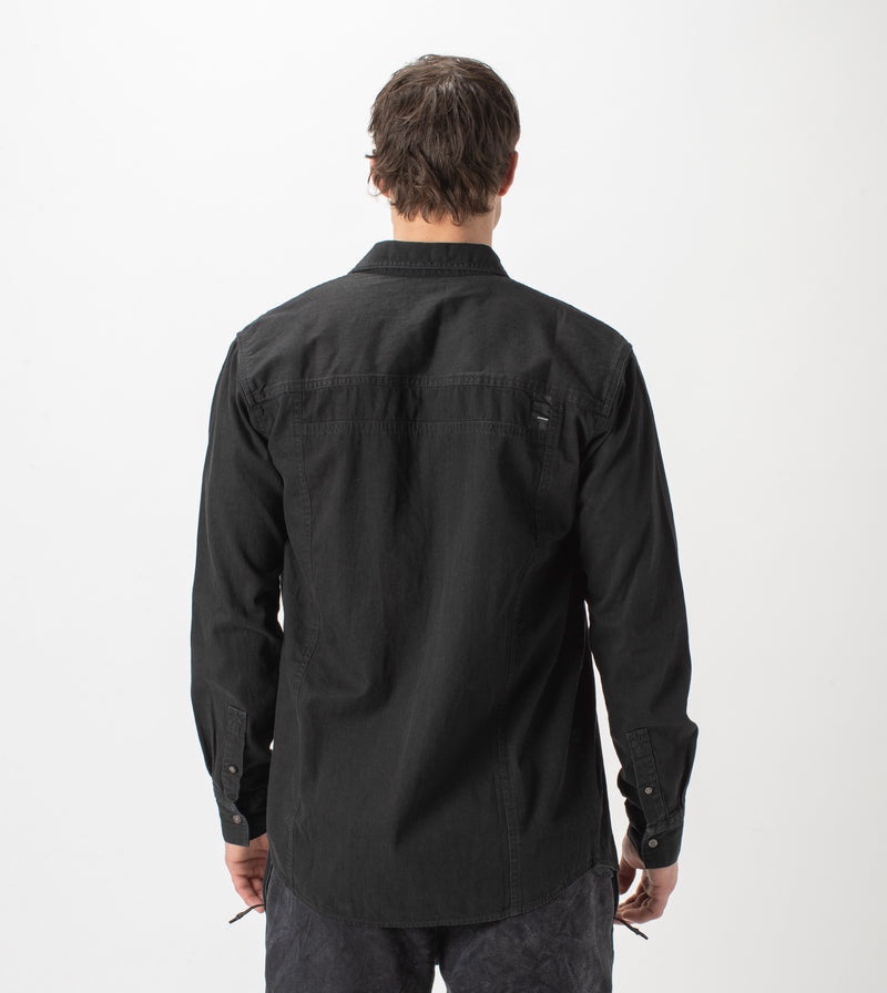 Denim Work LS Shirt Washed Black