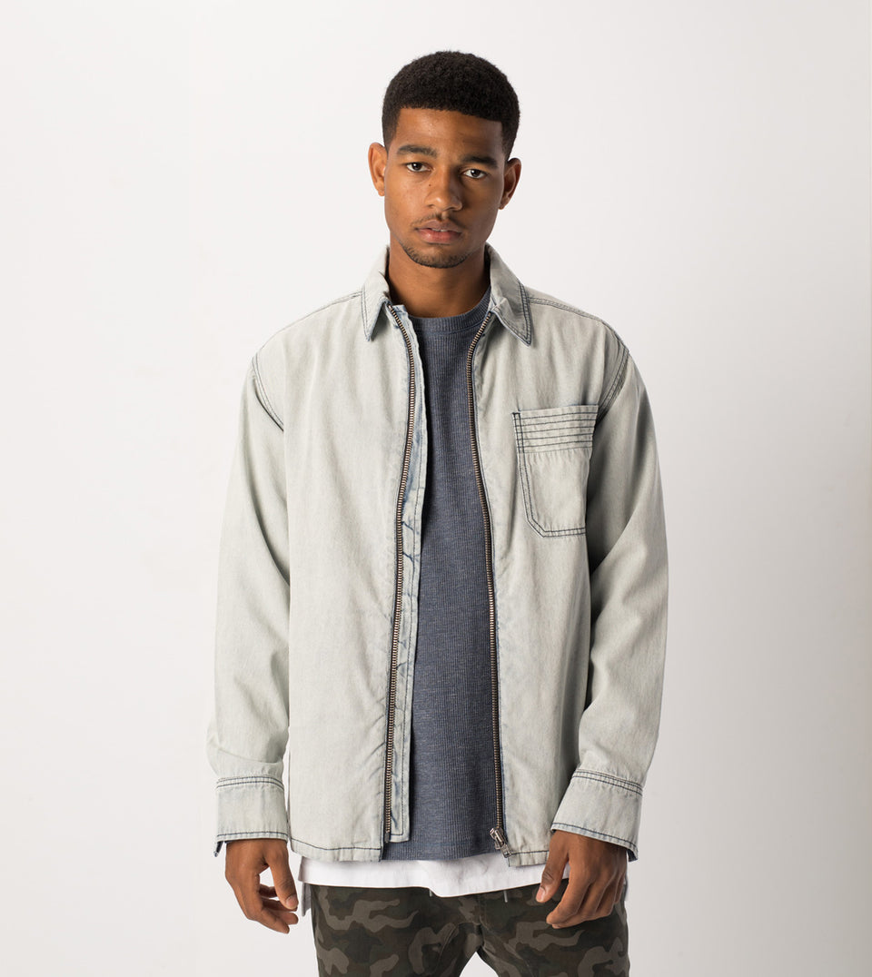 Denim Overshirt Blonde Wash - Sale