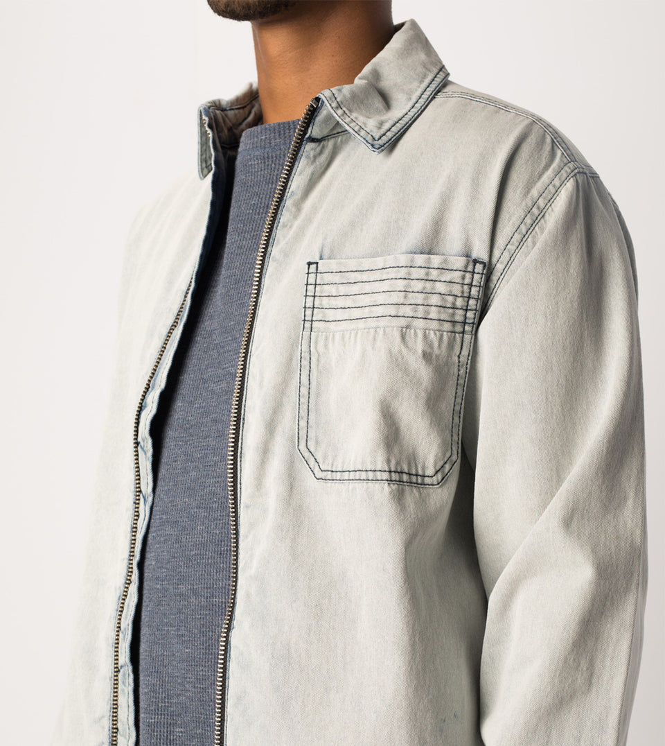 Denim Overshirt Blonde Wash