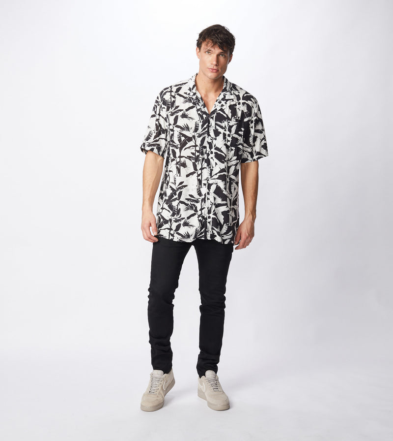 Diced SS Shirt Black/White