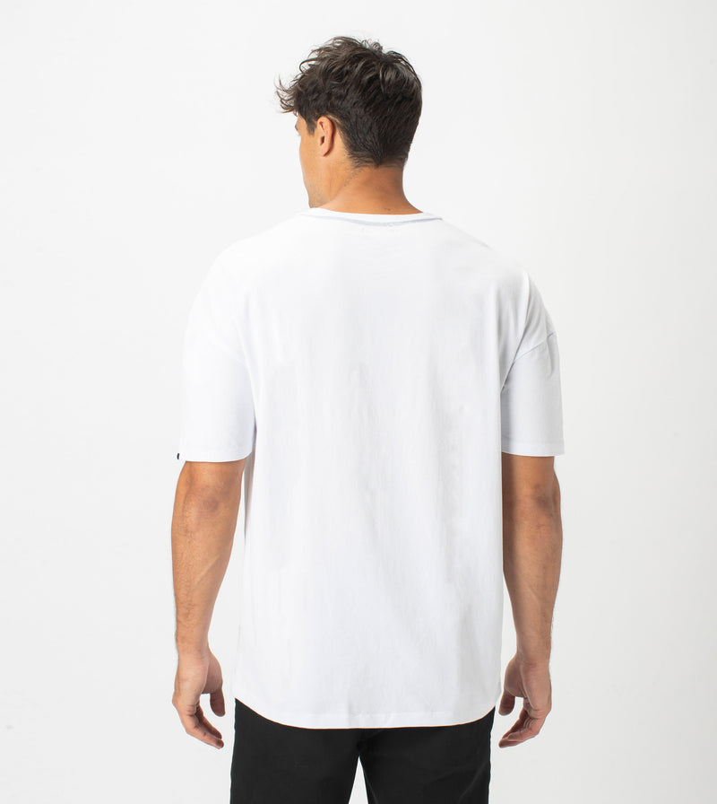 Drop Box Tee White