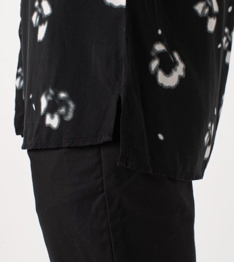 Flower SS Shirt Black