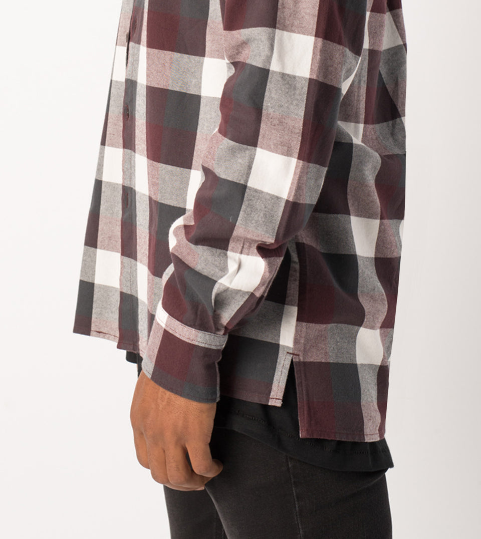 Flannel LS Shirt Port/Vintage Black