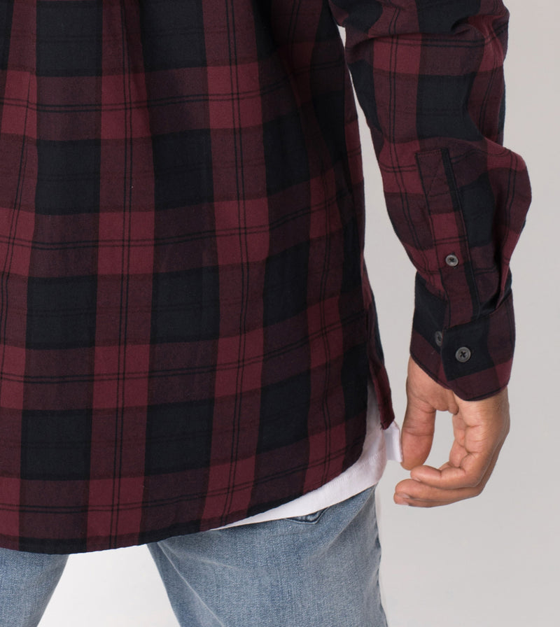 Flannel LS Shirt Black/Port