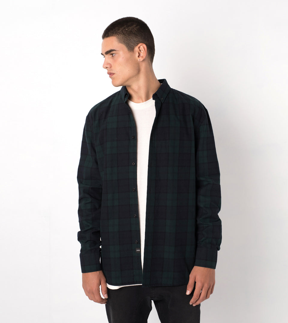 Flannel LS Shirt Ink/Forest