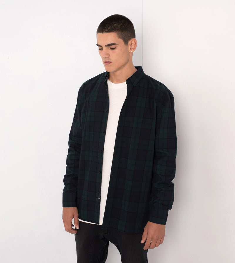 Flannel LS Shirt Ink/Forest - Sale