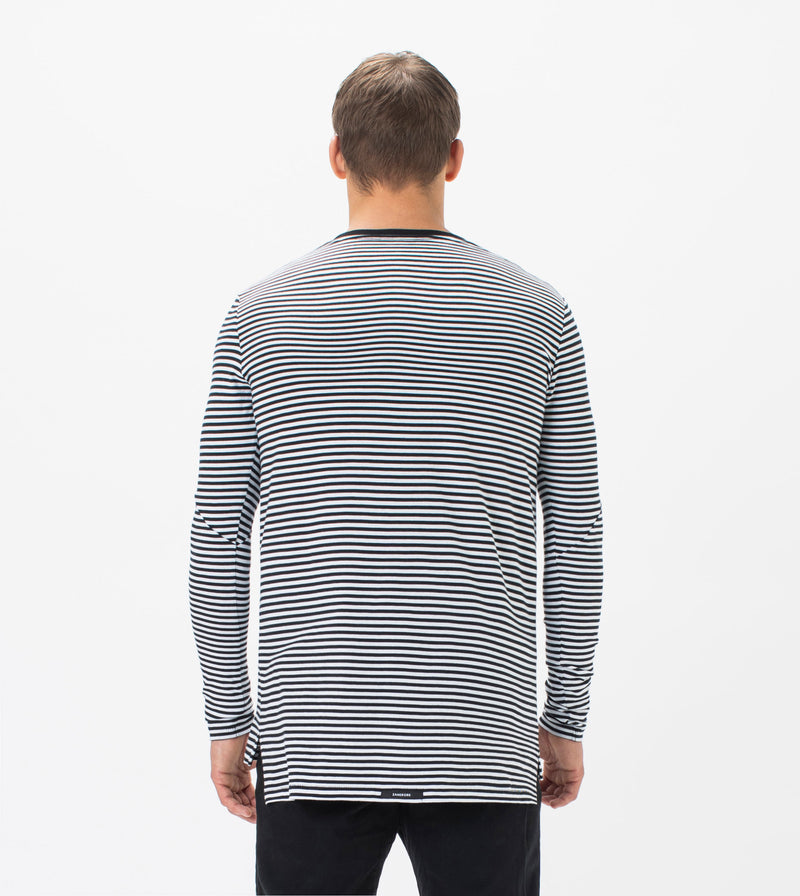 Flintlock Stripe LS Tee Black/White