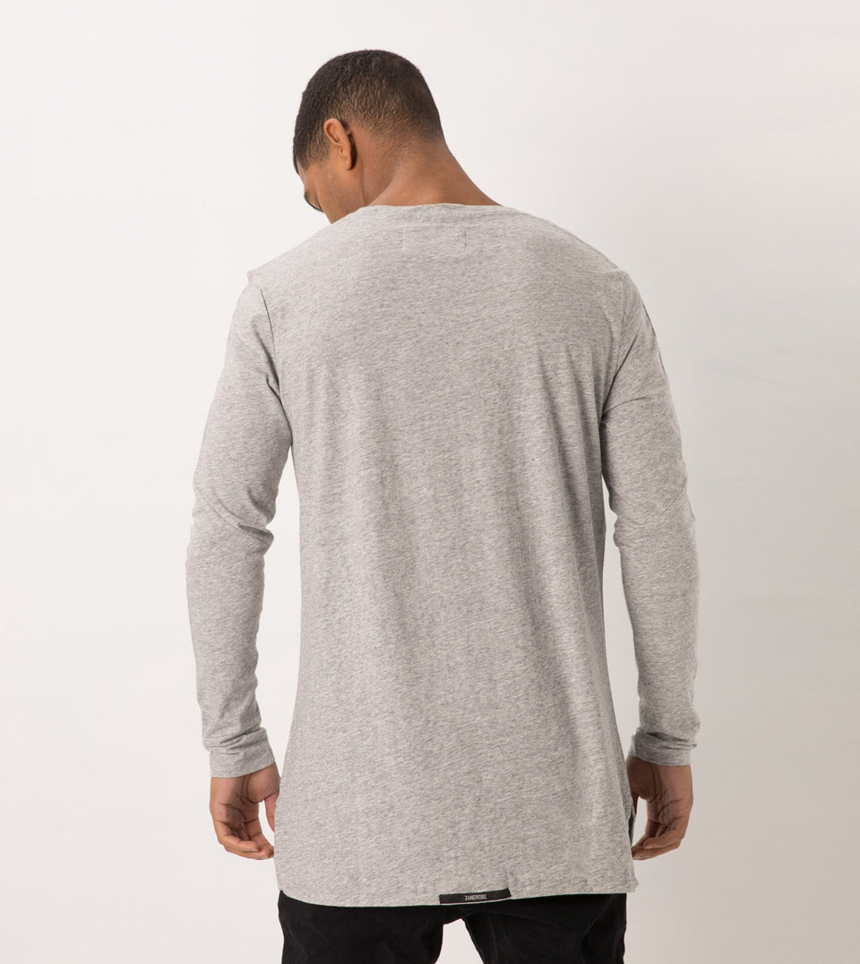 Flintlock LS Tee Grey Marle - Sale