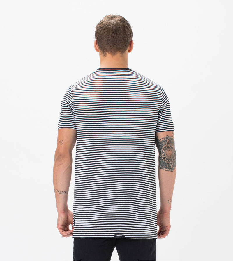 Flintlock Stripe Tee Black/White