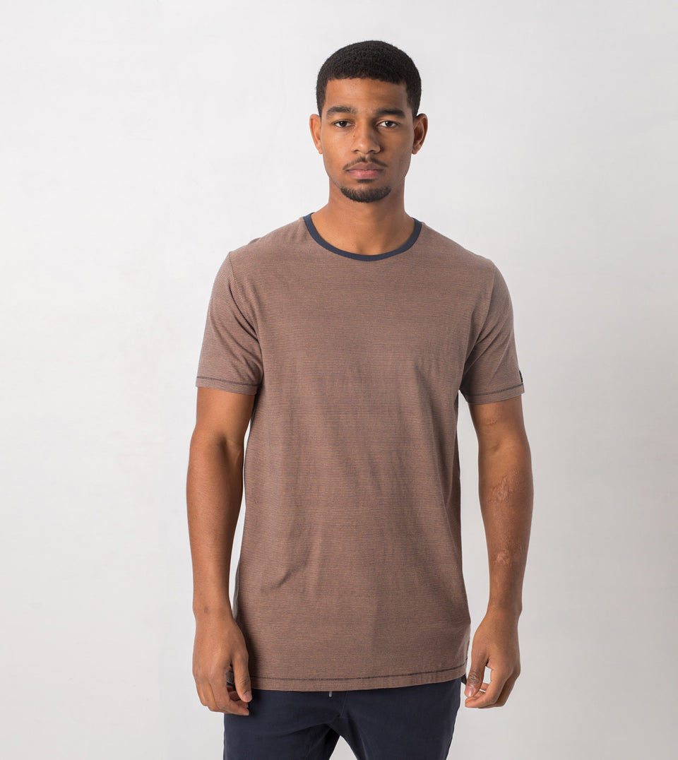 Flintlock Stripe Tee Duke Blue/Biscuit - Sale