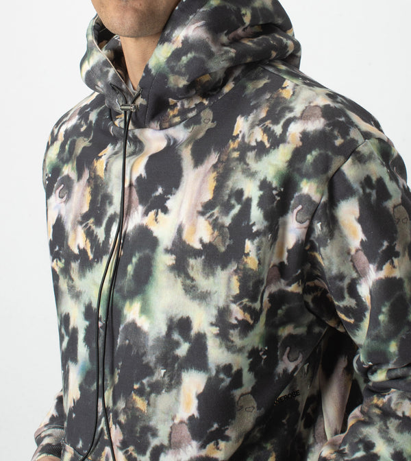 Foliage Hood Sweat Moss Multi