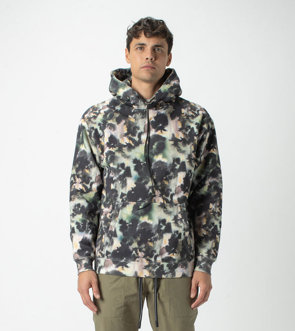 Foliage Lowgo Hood Sweat Moss Multi - Sale