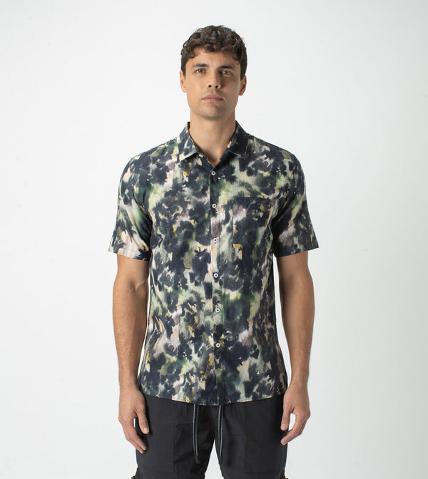 Foliage SS Shirt Moss Multi - Sale