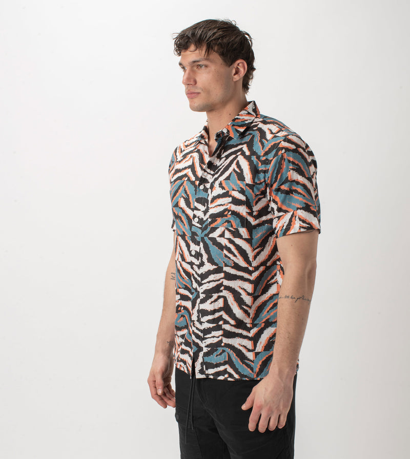 Glitch Zeb SS Shirt Dusty Blue
