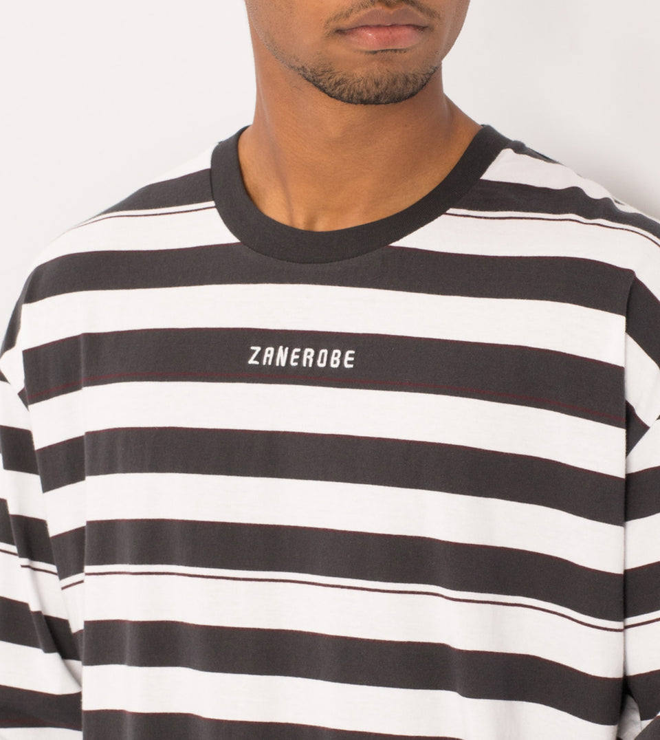 Hoop Rugger LS Tee Vintage Black/White - Sale