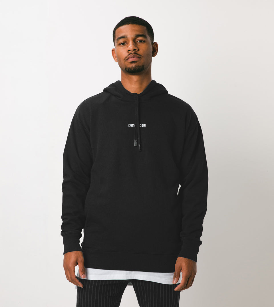 Imprint Rugger Hood Sweat Black