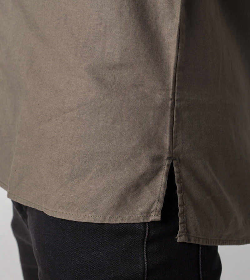 JY Linen LS Shirt Military