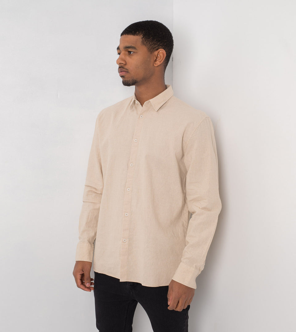 JY Linen LS Shirt Natural