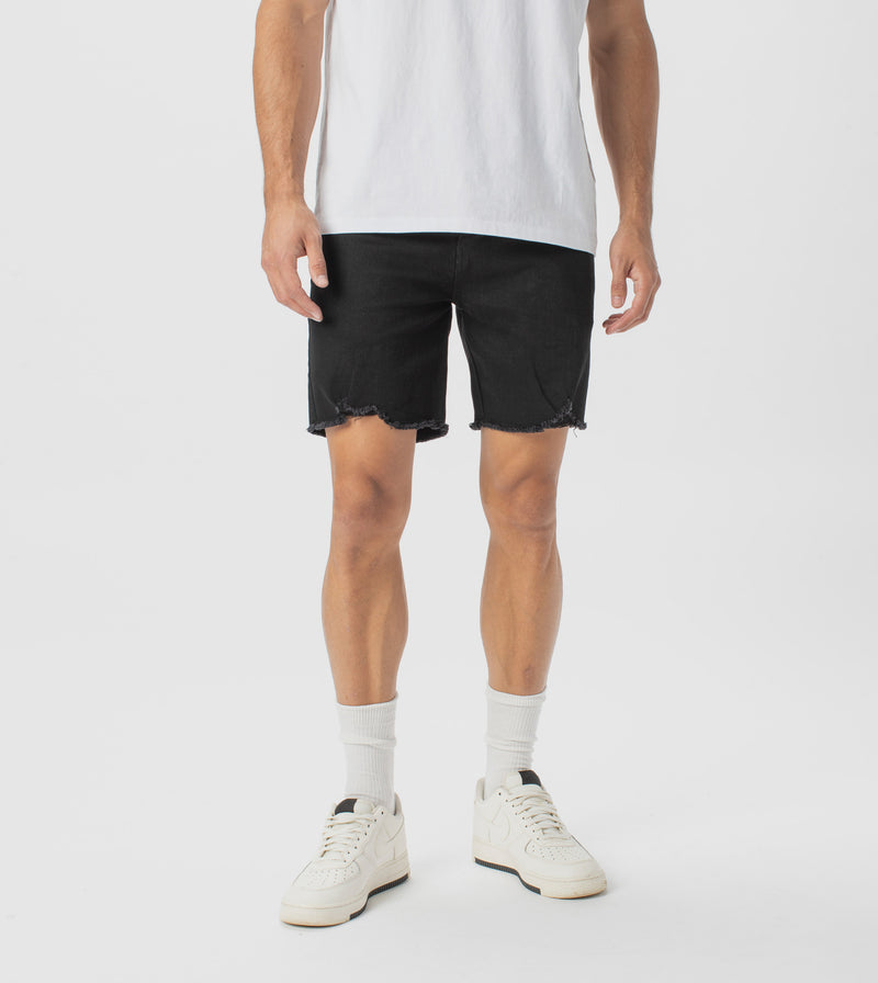 Joe Blow Denim Short Double Black