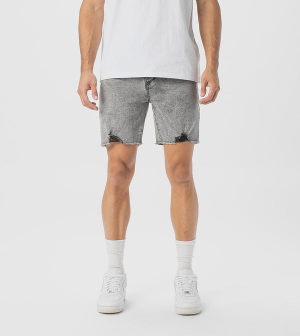 Joe Blow Denim Short Grey