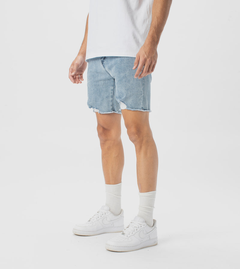 Joe Blow Denim Short Mineral Blue