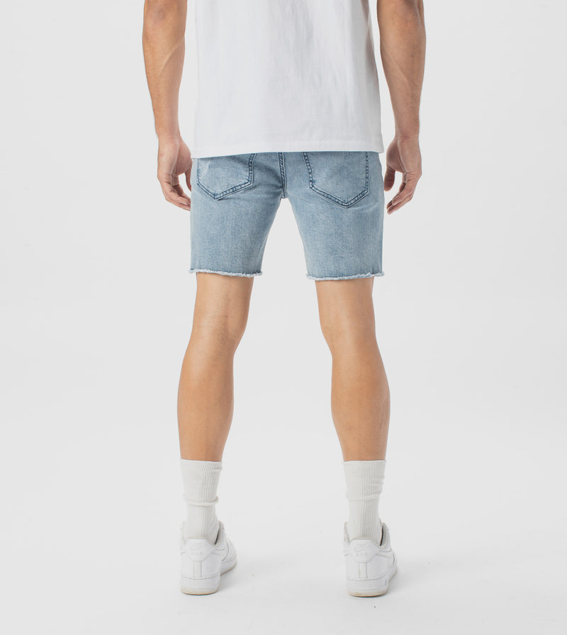 Joe Blow Denim Short Mineral Blue - Sale
