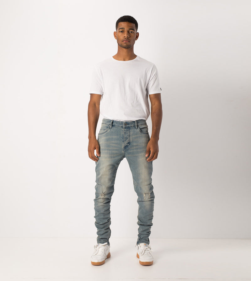 Joe Blow Zip Denim Abandoned Blue