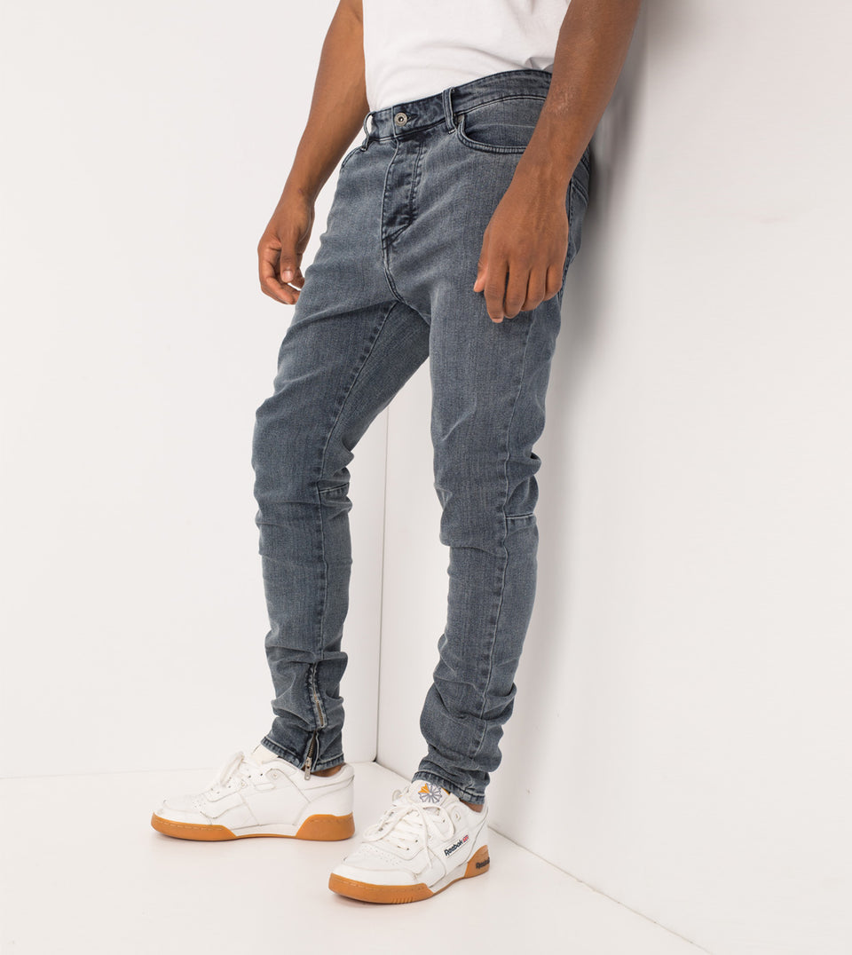 Joe Blow Zip Denim Deep Dark