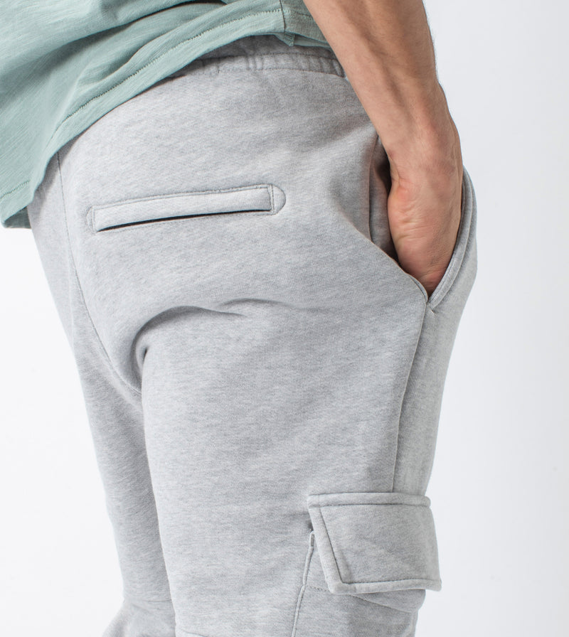 Jumpa Cargo Sweat Fleece Jogger Silver Marle