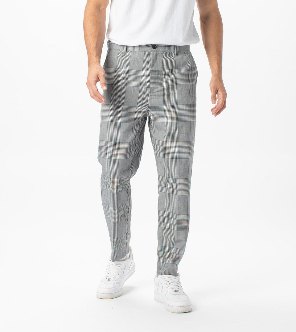 Jumpa Plaid Chino Pant Grey