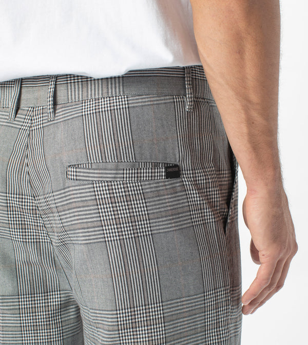 Jumpa Plaid Chino Pant Grey - Sale