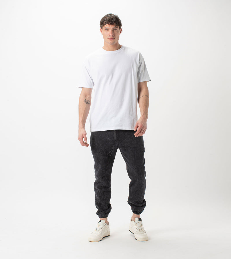 Jumpa Sweat Fleece Jogger Salt Black