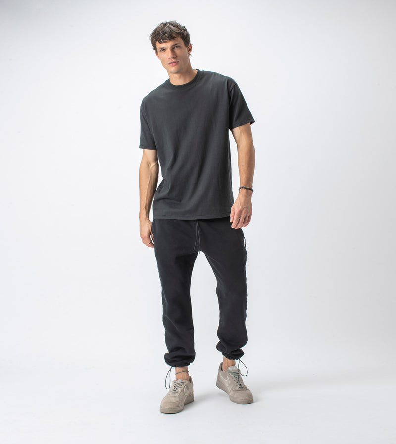 Jumpa Tape Sweat Fleece Jogger Smokey Black
