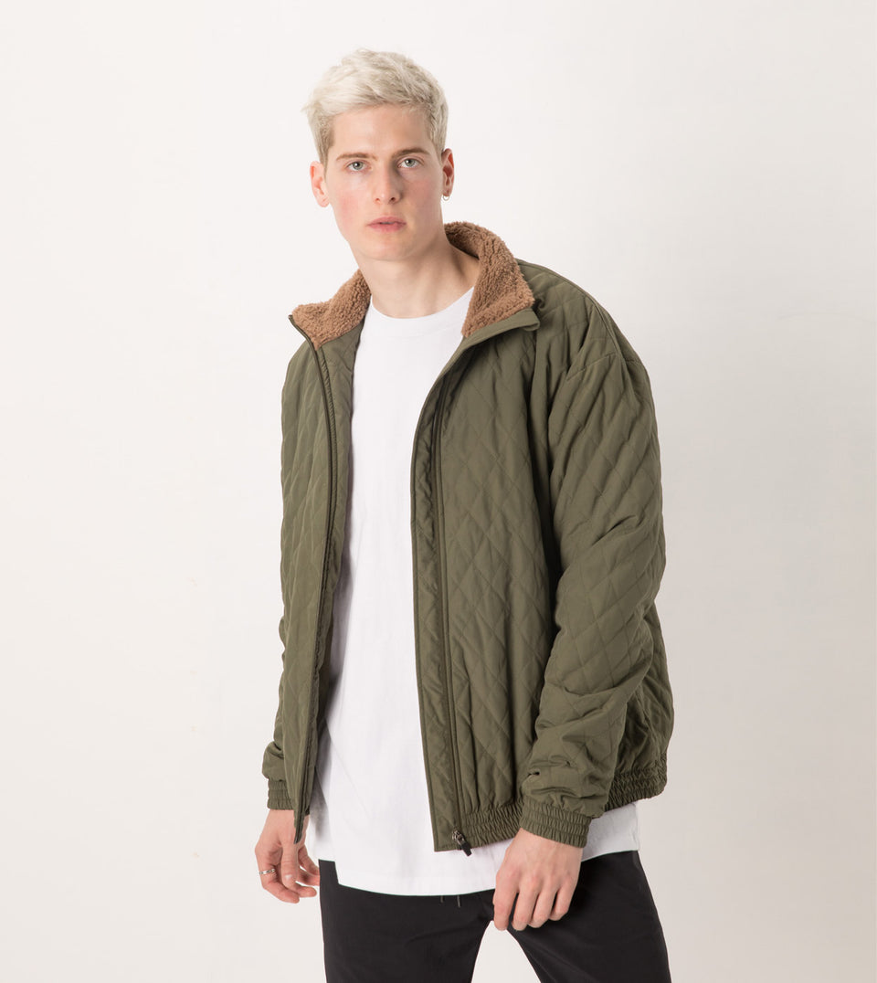 Jumpshot Quilt Jacket Military - Sale