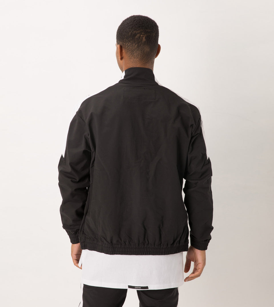 Jumpshot Track Jacket Black/White - Sale