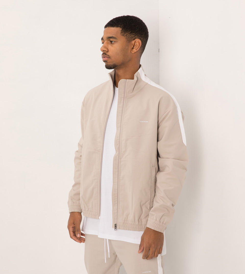 Jumpshot Track Jacket Putty/White - Sale
